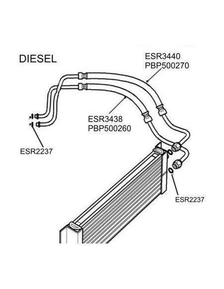 Engine Oil Cooler Pipe (Upper) 2.5TD ESR3440 PBP500270
