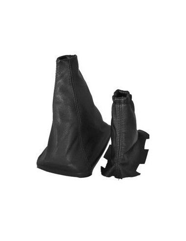 Kit Genuine Black Leather Gear + Handbrake Gaiter